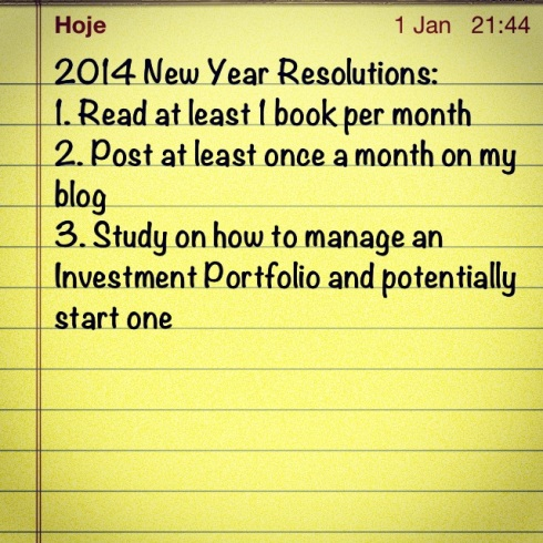 2014 New Year Resolutions